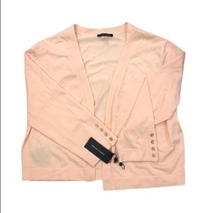 NWT Tommy Hilfiger Light Pink Open Front Cardigan